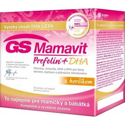 Vitamíny a minerály pre tehotné ženy GS Mamavit Prefolin+DHA