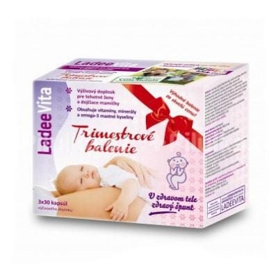 Vitamíny a minerály pre tehotné ženy LadeeVita Trimestrové balenie cps 3x30