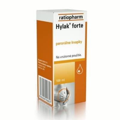 prípravok proti zápche HYLAK FORTE gtt por 100 ml