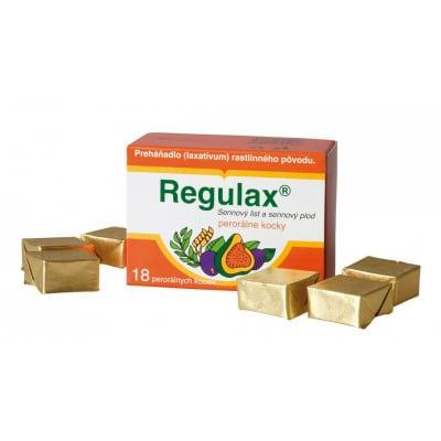 prípravok proti zápche Regulax perorálne kocky 18 ks