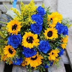 Kytica Sunflower donáška kvetov