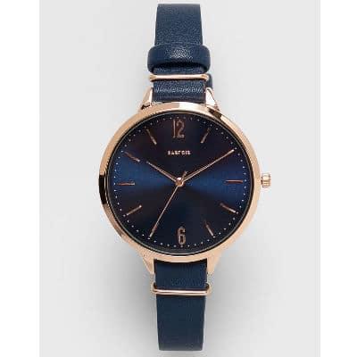 Tmavomodré dámske hodinky