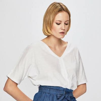 biele oversized tričko