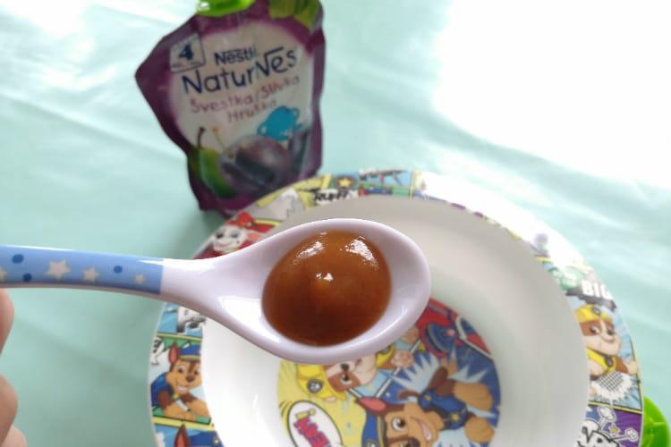 Nestlé Naturnes detská výživa konzistencia
