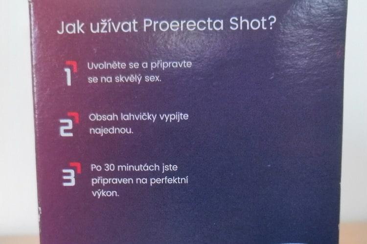 Proerecta Shot užívanie
