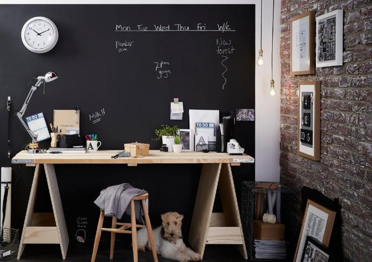 kreatívna stena v detskej izbe