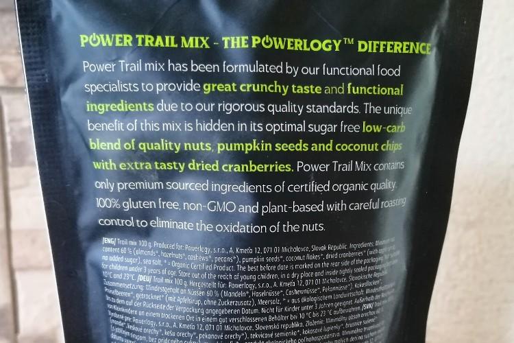 Powerlogy BIO Trail Mix skúsenosti