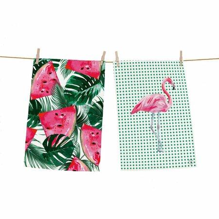 kuchynské utierky flamingo
