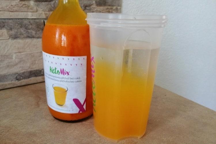 KetoMix sirup s pomarančovou príchuťou
