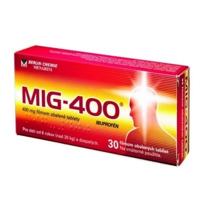 MIG 400 proti bolesti hlavy