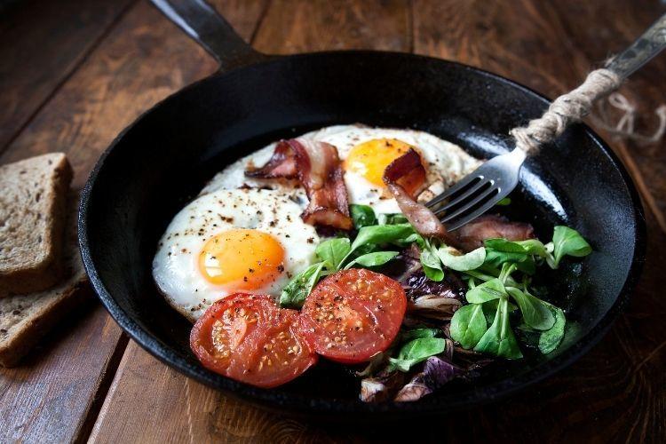 vajíčka na raňajky