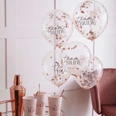 balóny s konfetami nevesta