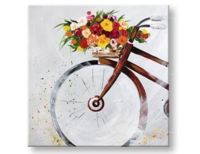 Maľovaný obraz na stenu Bicykel