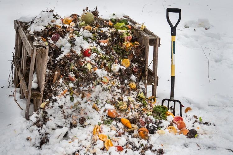 Kompost v zime